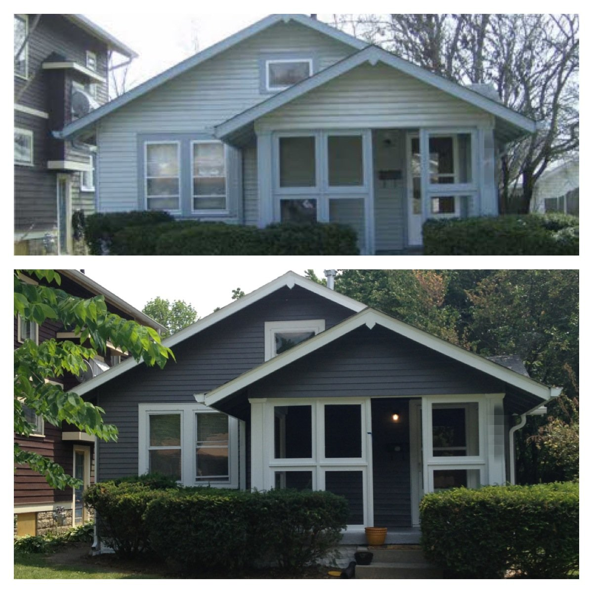 The Gallery For Gt Exterior Painting Before And After