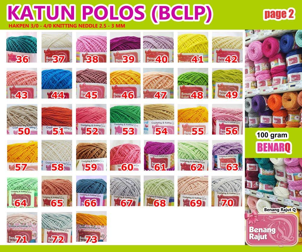 KATALOG BENANG KATUN POLOS (BCLP) - 1