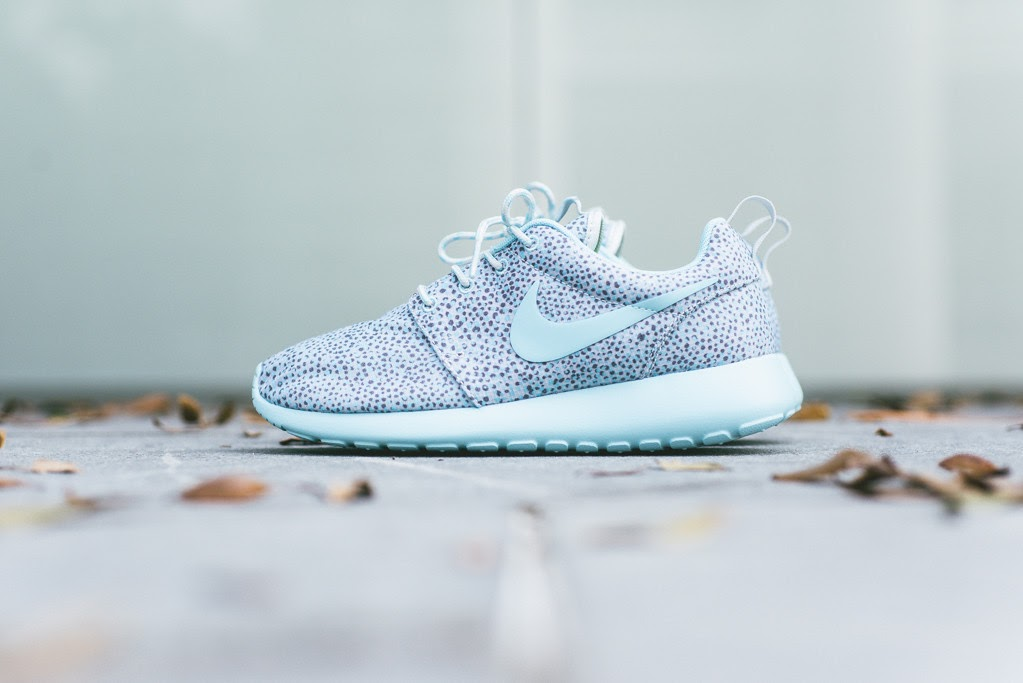 Nike WMNS Rosherun Print - Cool Grey/Glacier Ice