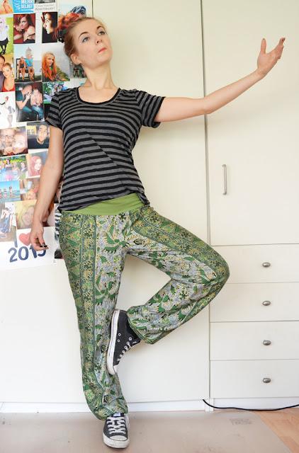 [Nähen] Grüne Hose aus Balistoff