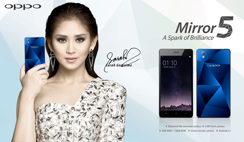 Sarah Geronimo, the face of OPPO Mirror 5