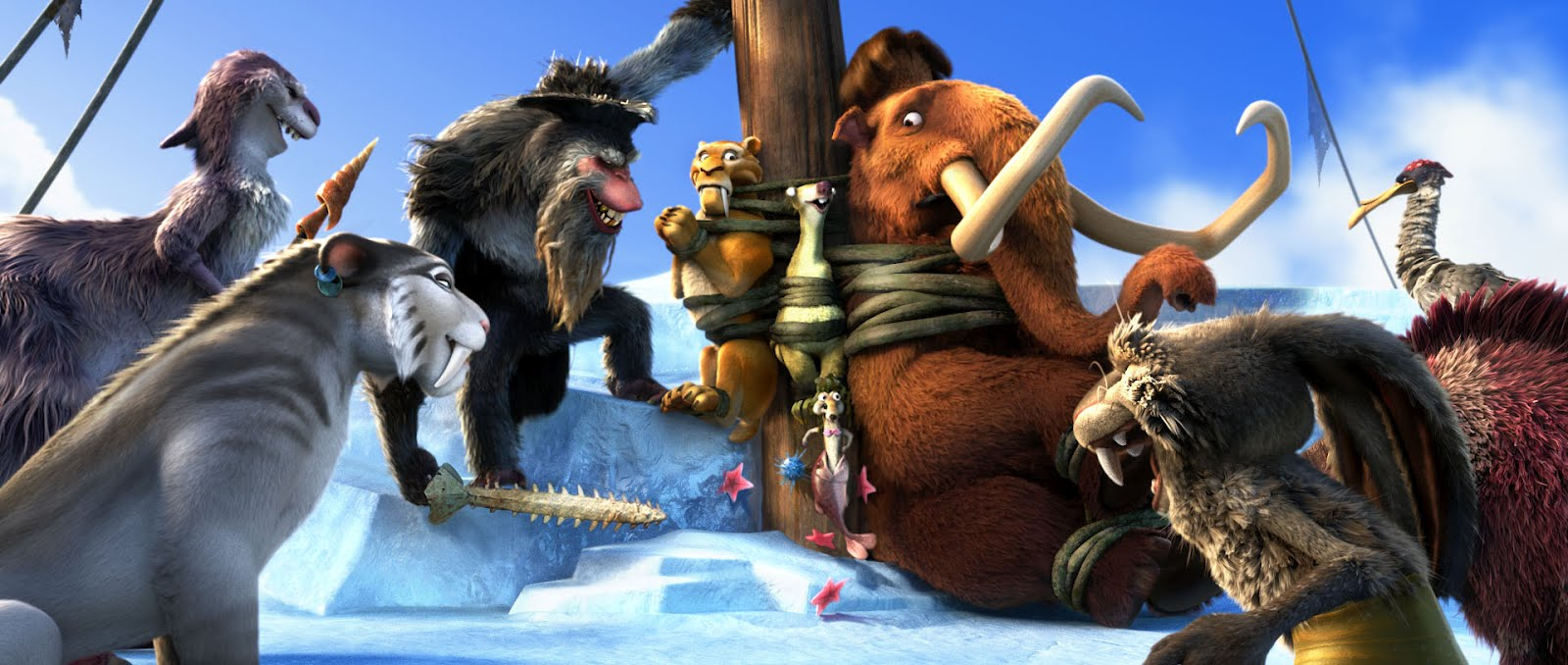 ice age 4: continental drift features new and returning characters