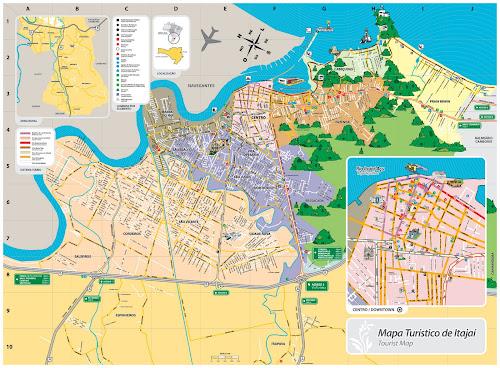 Mapa turístico de Itajaí