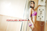 Davina Alika Model Majalah Popular World 2012