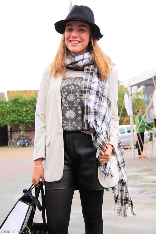 Street Style Leather Shorts For Winter