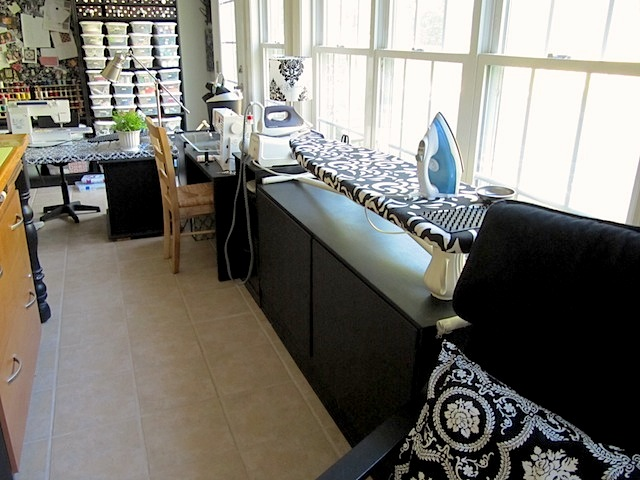 Sew many ways space saving ironing board ideas and more - Ironing board solutions for small spaces ideas ...