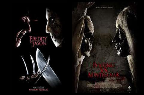 Freddy VS Jason dan pocongkkkkkk VS Kuntilanak
