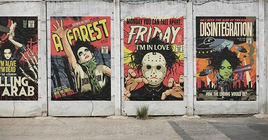 The spooky vegan the cures songs transformed into horror comic inspired artwork