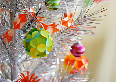 Origami paper christmas ornament