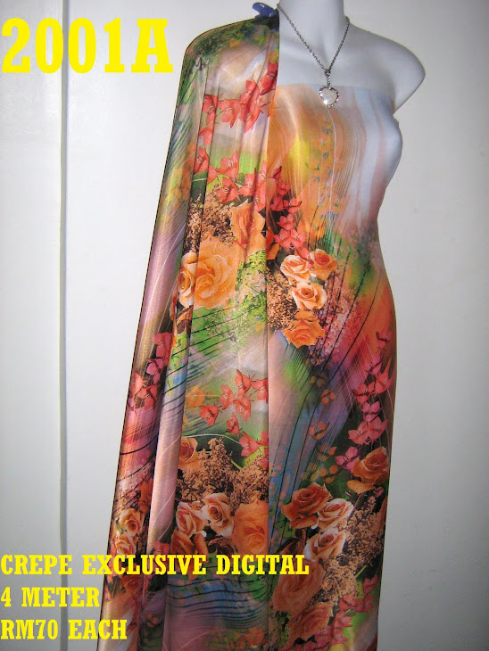 CP 2001A: CREPE EXCLUSIVE DIGITAL PRINTED, 4 METER