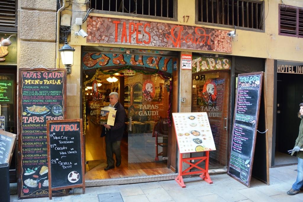 Restaurant Tapas Gaudi Barcelona