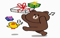 sticker line brown and cony