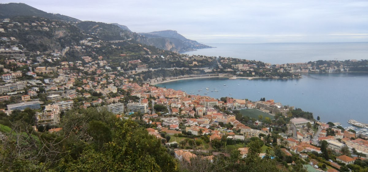Villefranche seen from Mont Alban