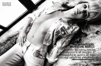 Miranda Kerr topless for Vogue Italia October 2012 - Beautiful Female Photos