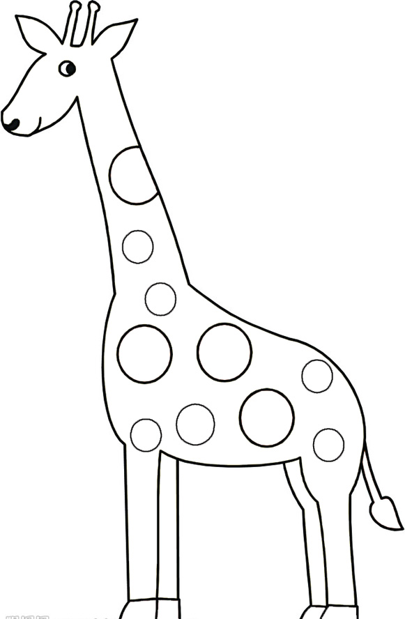 Old Fashioned image within giraffe coloring pages printable