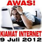 KIAMAT INTERNET akan terjadi pada 9 Juli 2012
