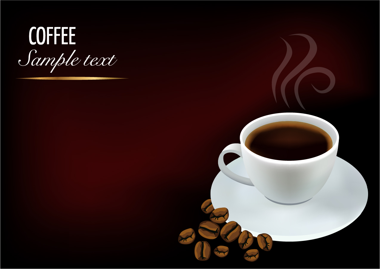 珈琲を描いた背景 vector background beautiful coffee イラスト素材