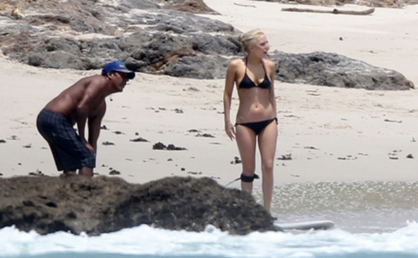Lady GaGa - Bikini Candids  Surfing in Puerto Vallarta, Mexico
