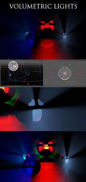 volumetric lights cinema 4d luces volumetricas