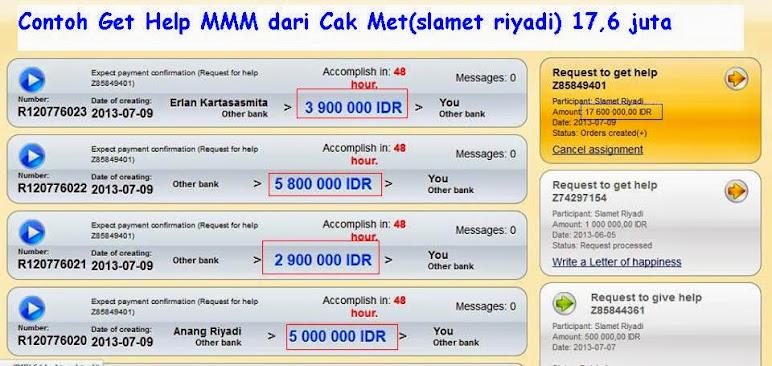 Cth Get Help Cak Met 17,6 juta di MMM