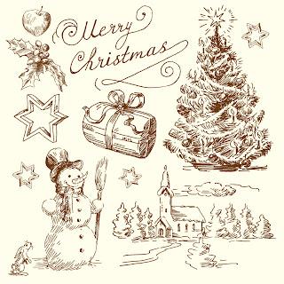 クリスマスイラストおしゃれ手書き , paintschainer