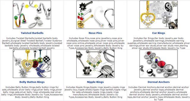 Body jewelry or non piercing body jewelry