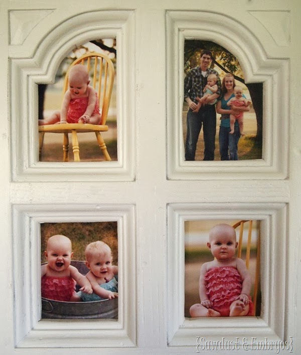 Picture Frames out of Furniture Doors
