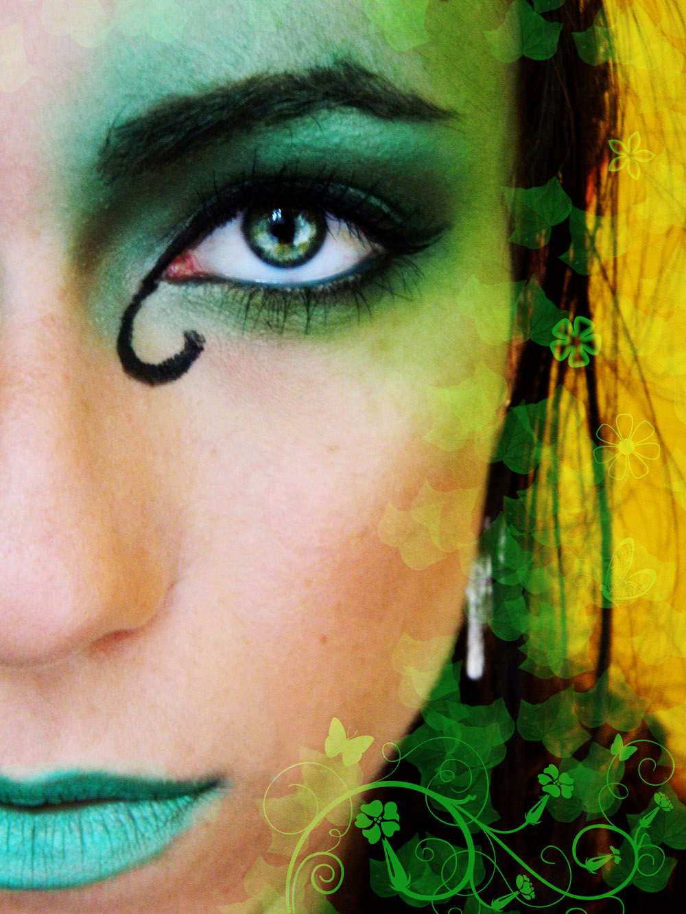 Makeup and art freak forest fairy makeup tutorial halloween another fun halloween makeup look this time forest fairy i hope youll be able to see the eyeshadows quality and intensity better on the pictures then baditri Image collections