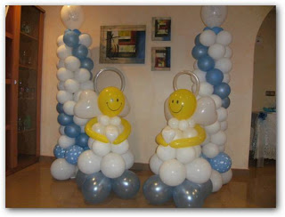 decoracion con globos angelitos