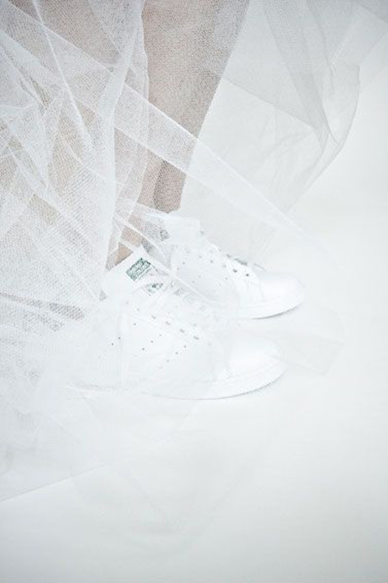 Stan Smith ballerina, covered in tulle