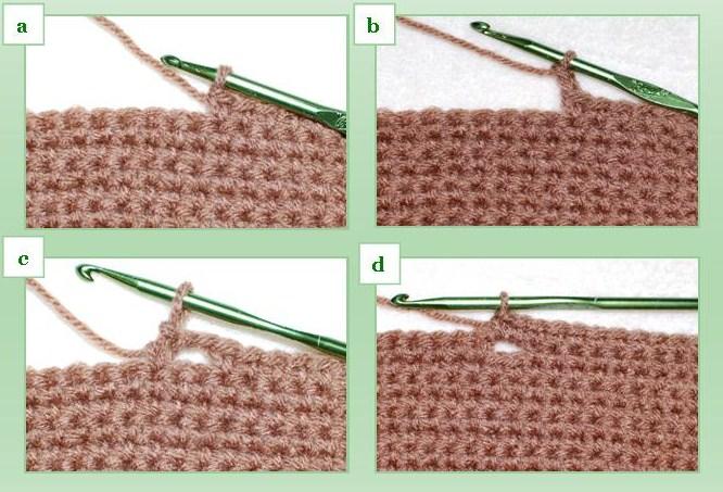 Вязание крючком отдельных деталей