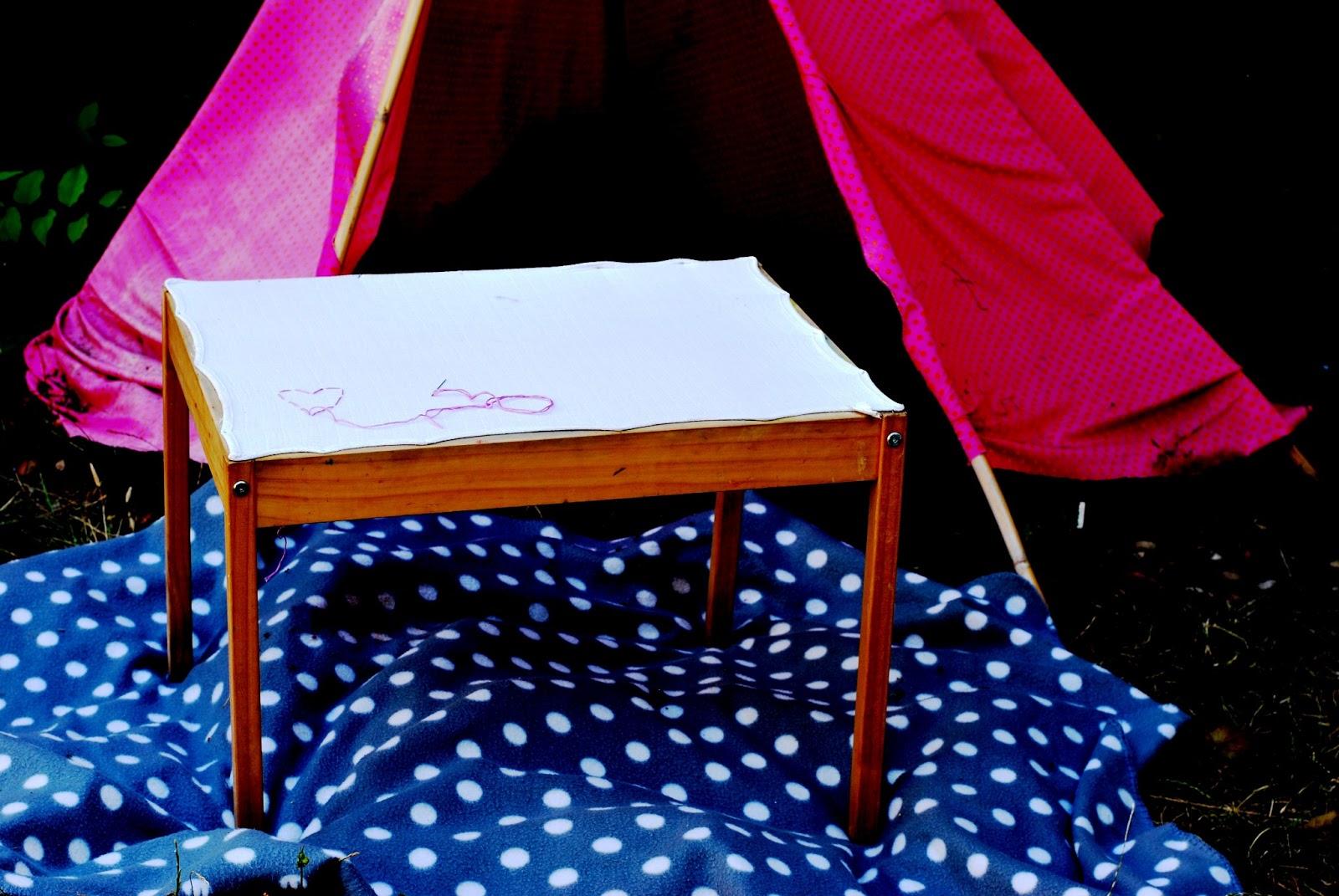 Diy table coudre la petite vie d 39 ilhan et m lia for Coudre a passe simple