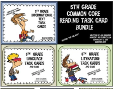 5th Grade Common Core Reading Tak Card Bundle