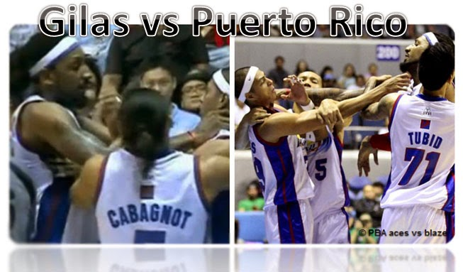 Philippines' Gilas vs Puerto Rico on 2014 FIBA World Cup Basketball Game