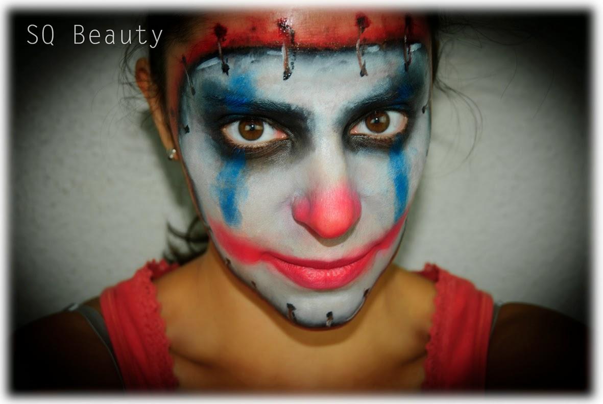 halloween makeup evil clown - silvia quirós