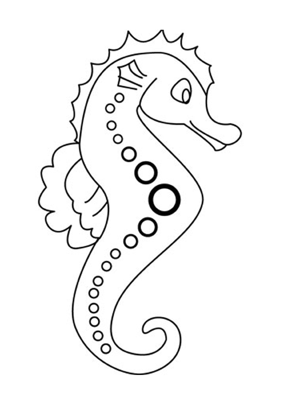 free sea horse coloring pages - photo#2