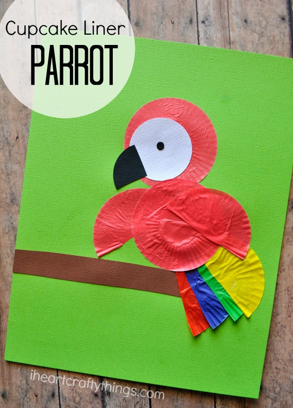 Cupcake liner parrot kids craft i heart crafty things for Art and craft books for kids