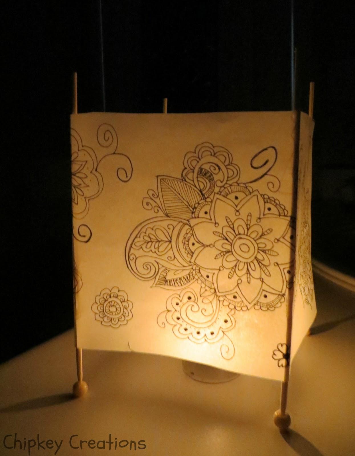 Chipkey creations tutorial paper lantern for Paper lantern tutorial