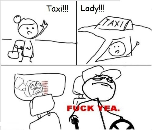Taxi! - Lady! - Funny Comic