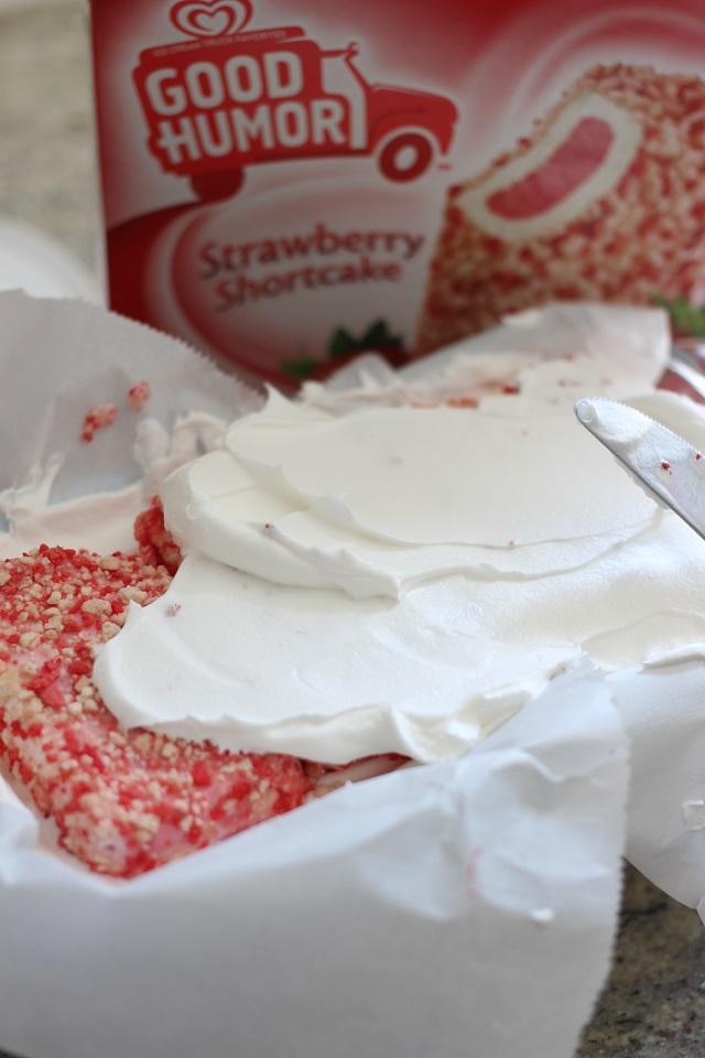 Strawberry Shortcake Bar Ice Cream Cake