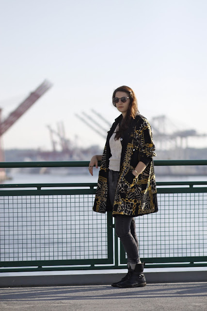 Nicole Aiello Jewelry coat Bainbridge Island Ferry Street Style Fashion