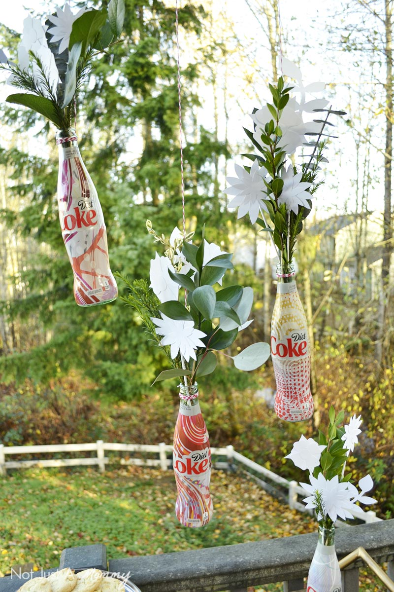 Upcycled Diet Coke Bottle Flower Vases