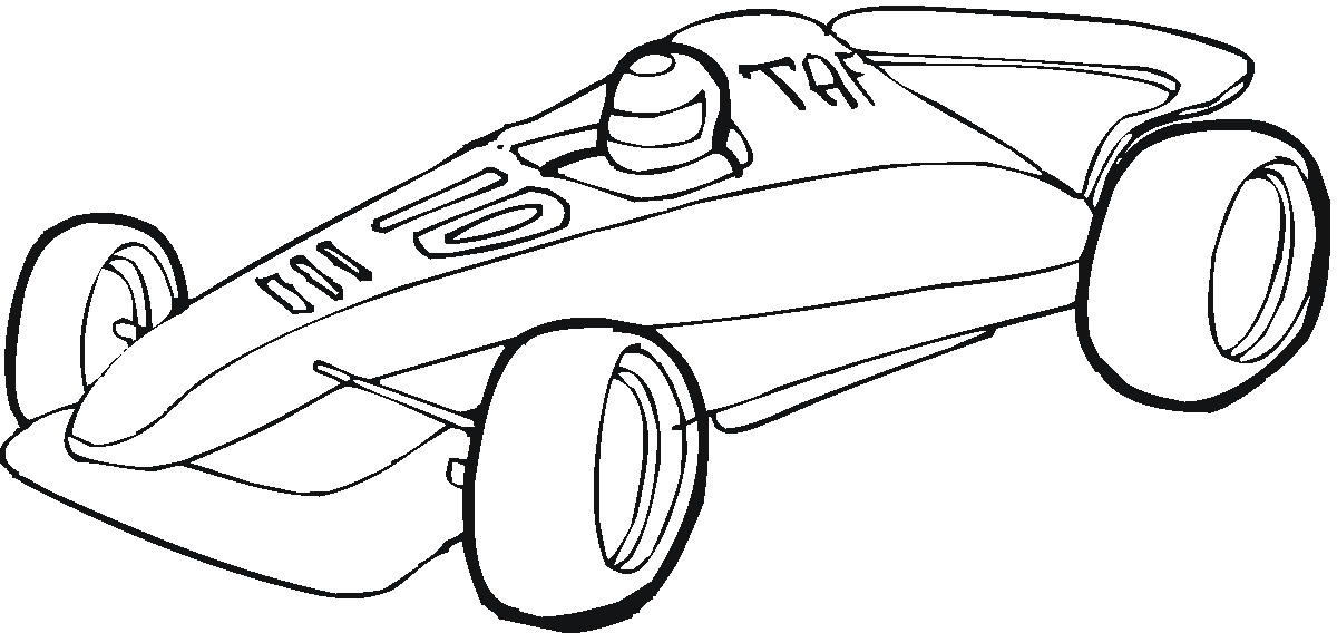 free coloring pages of pinewood derby car