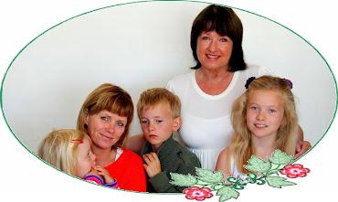 Mine nærmeste. Datter Nina med sine barn.