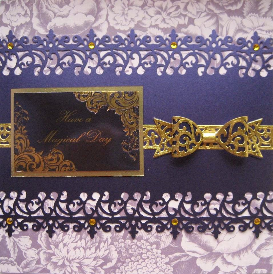Card made using Kanban Luxury Textile Collection topper & Centura Pearl Card