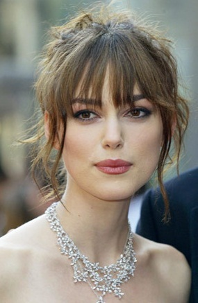 Keira Knightley Blunt Bob Haircut With Bangs
