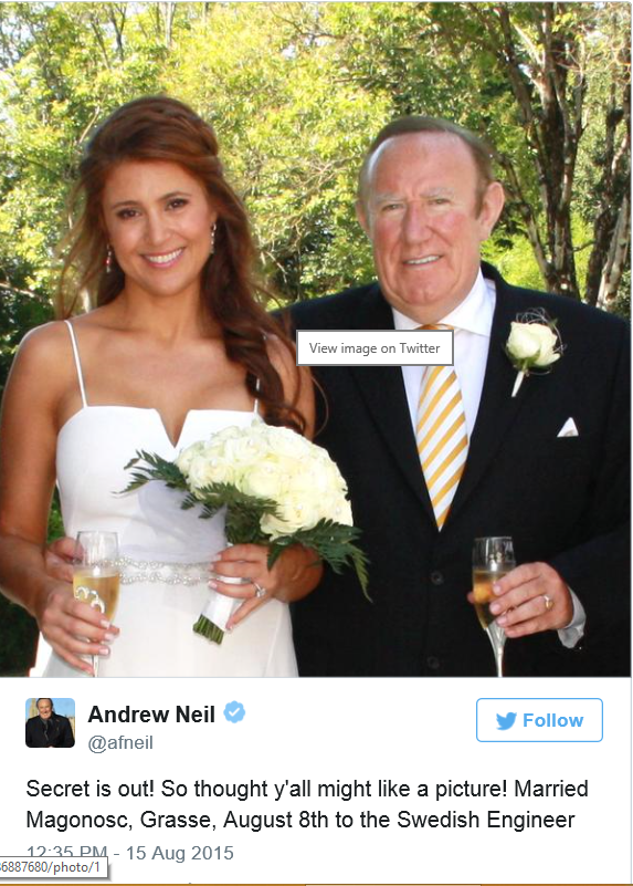 Γνωστός δημοσιογράφος παντρεύτηκε κρυφά την κατά 22χρόνια νεότερη σύντροφό του