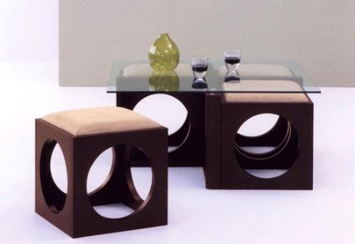 decora y disena: Mesa de Centro Moderna con Otomanas Incluidas