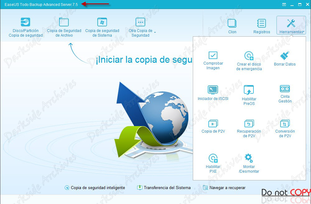 EASEUS Todo Backup Advanced Server 7.5