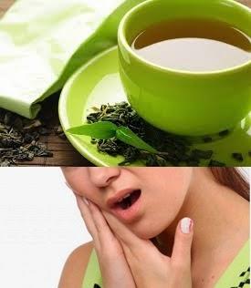 Sakit gigi, teh hijau